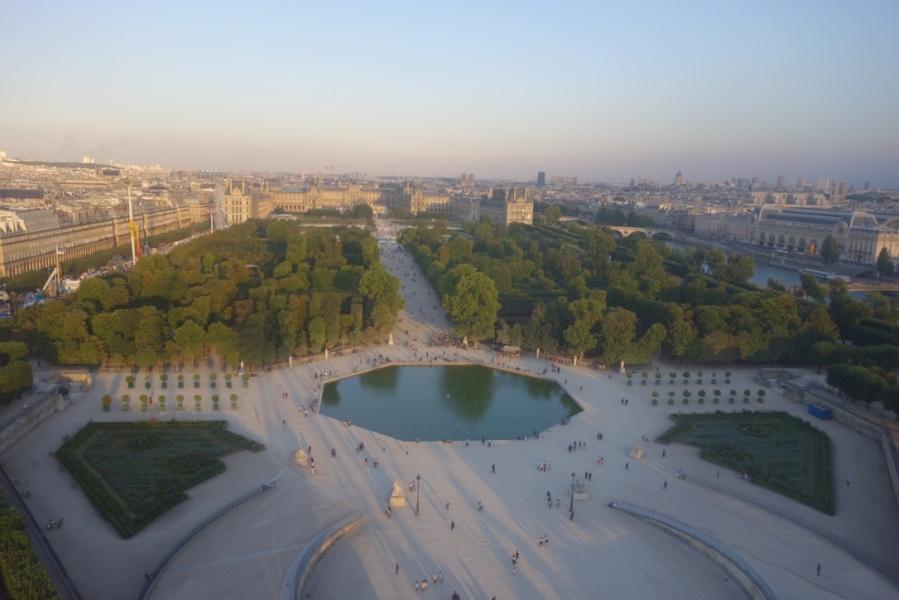 Vue de Paris depuis la roue de la Concorde