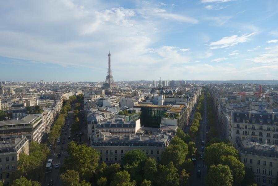Vue de Paris depuis l'Arc de Triomphe