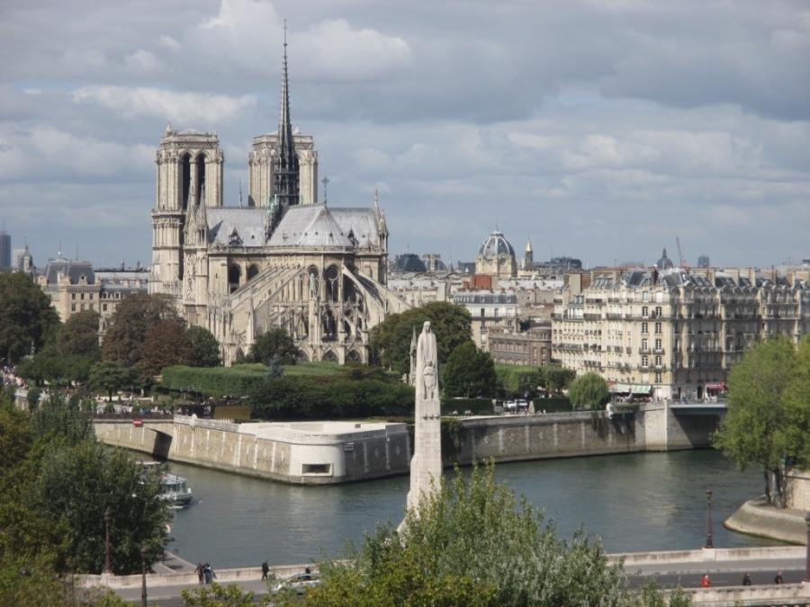 Vue de Paris depuis l'institut du monde arabe