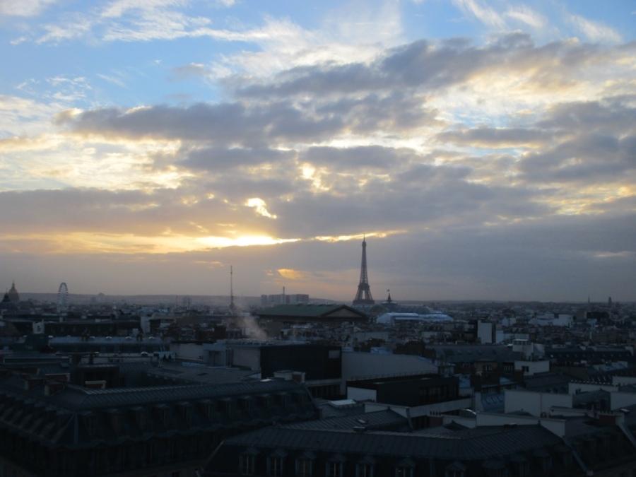 Vue de Paris depuis la terrasse des Galeries Lafayette